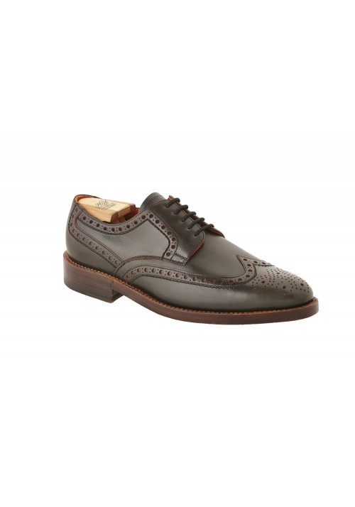 Heinrich Dinkelacker Luzern Full Brogue Schwarz/ Orange