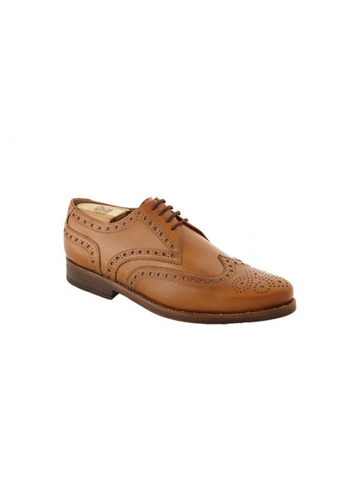 Neue Kollektion Heinrich Dinkelacker Rom Full Brogue nuss