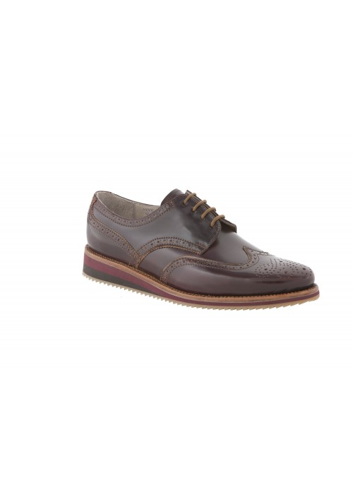 Heinrich Dinkelacker Rom Campus Sneaker Full Brogue oxblood