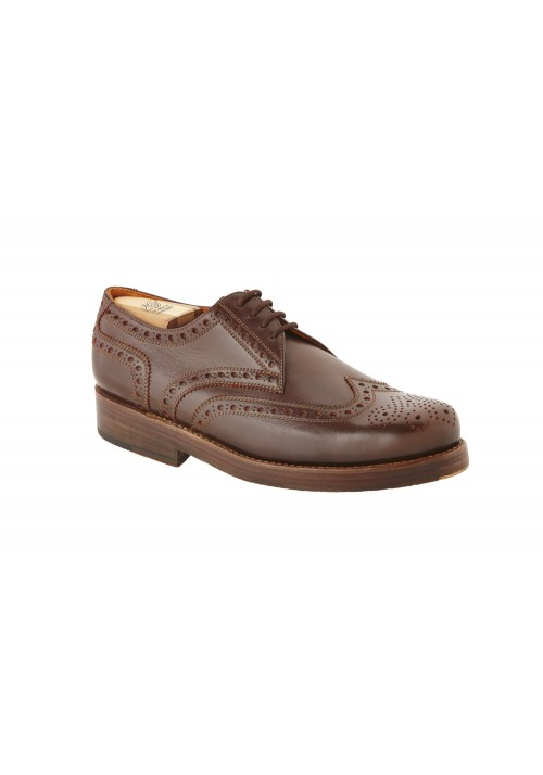 Heinrich Dinkelacker Rio Full Brogue Dunkelbraun / Orange