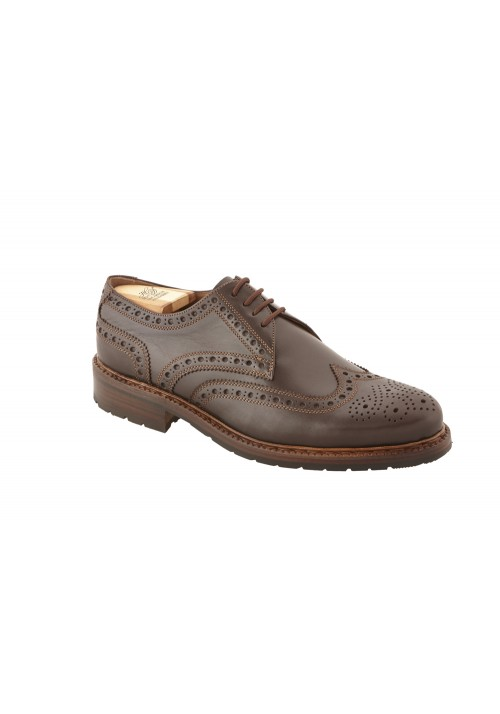 Heinrich Dinkelacker Zürich Full Brogue marrone