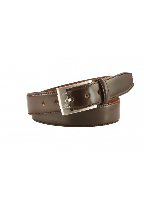 New Heinrich Dinkelacker Shell Cordovan belt dark cognac