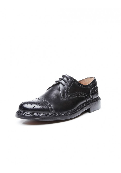 Heinrich Dinkelacker Buda half Brogue black