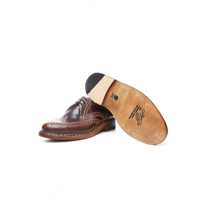 Heinrich Dinkelacker Buda Full Brogue dark cognac
