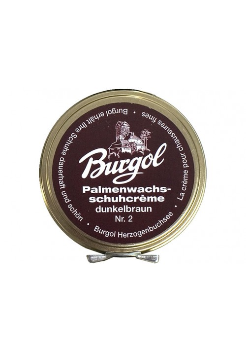 Burgol Palm Wax Shoe Polish dark brown