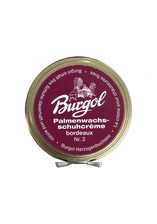 Burgol Palm wax Shoe Polish bordeaux