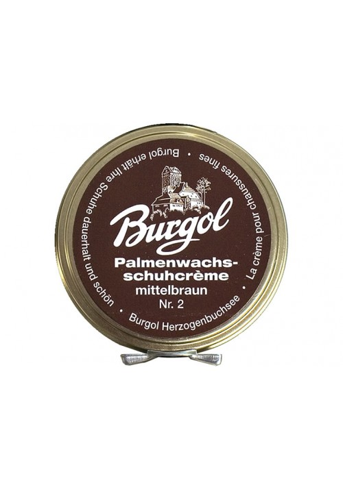Burgol Palm Wax Shoe Polish middle brown