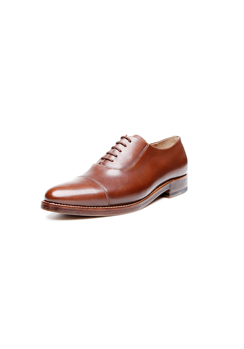 new collection Heinrich Dinkelacker Milano Cap Toe darkbrown
