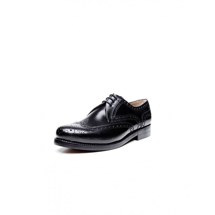 Heinrich Dinkelacker Janosh K Full Brogue black extra wide