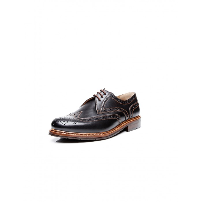 Heinrich Dinkelacker Janosh K Full Brogue dark brown extra wide