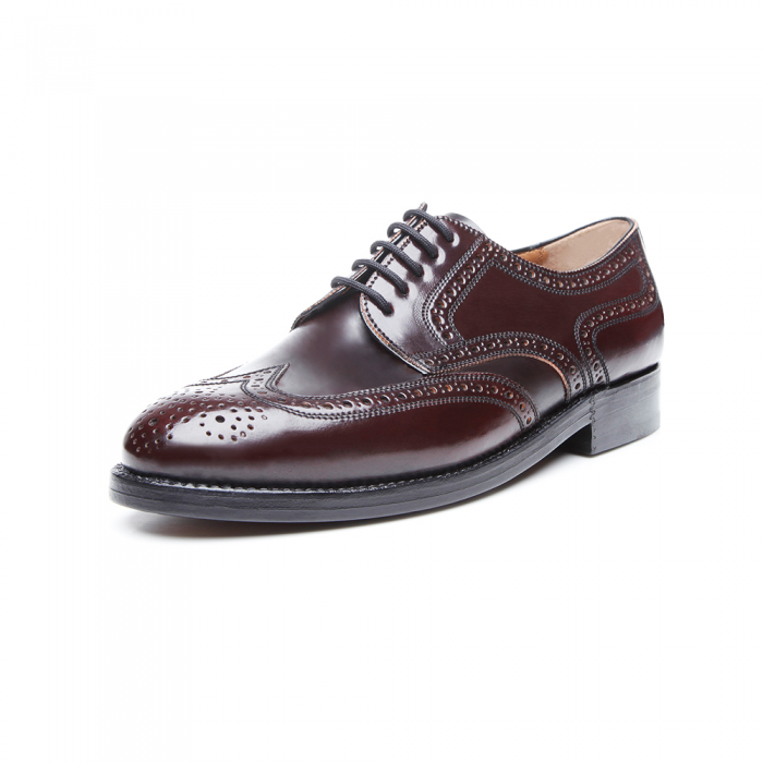Heinrich Dinkelacker London Full Brogue Cordovan oxblood