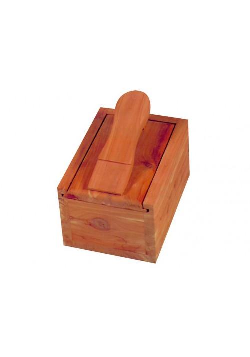 Red Cedar Holz Schuhputz-Kiste