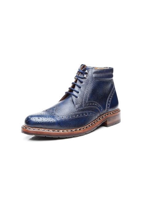 Heinrich Dinkelacker Janosh K Boot blue extra wide