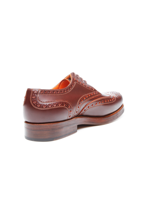 Heinrich Dinkelacker Rio Full Brogue Schwarz / Orange