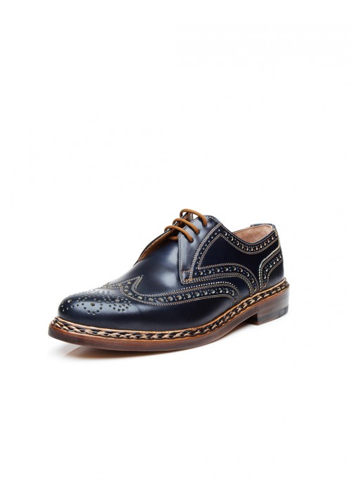 Heinrich Dinkelacker Buda Full Brogue Cordovan navy