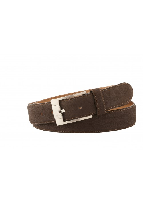 Heinrich Dinkelacker belt water buffalo dark brown