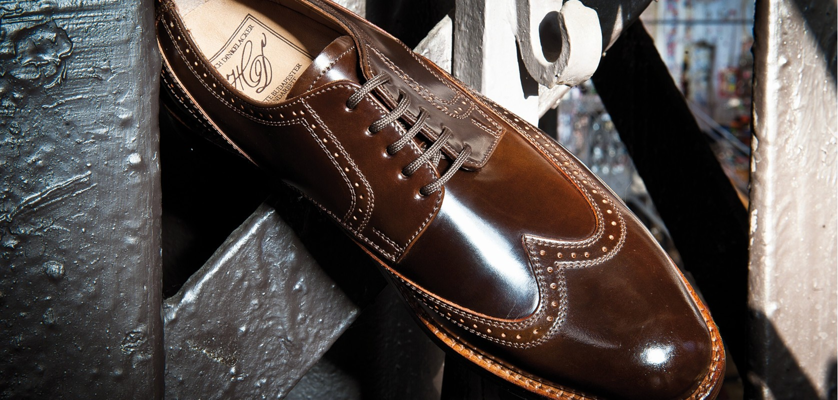 HEINRICH DINKELACKER LUZERN BROGUE DARKCOGNAC